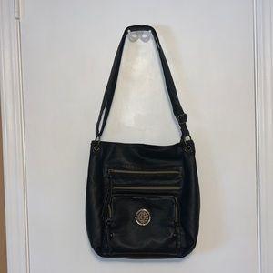 Stone & Co   Black Leather Crossbody/Shoulder Bag